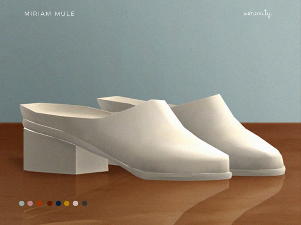 The Sims Resource: Miriam Mule shoes by serenity cc