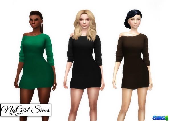 NY Girl Sims: Off Shoulder Mini Dress