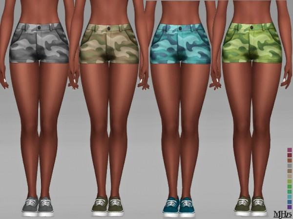 The Sims Resource: Camouflage Shorts by Margeh 75
