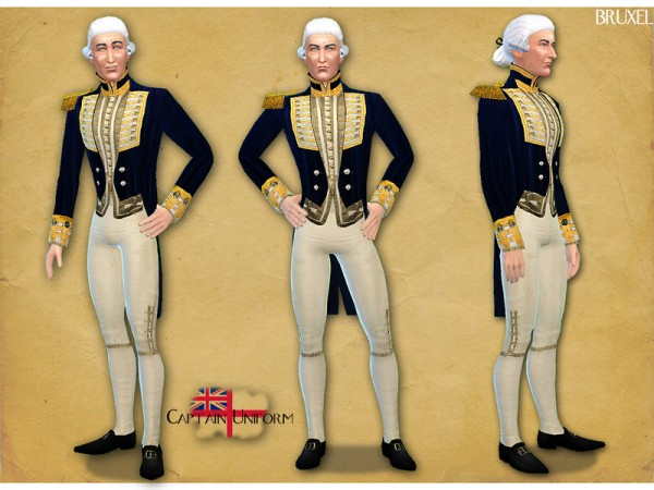 The Sims Resource: Royal Navy Captain Uniform by Bruxel