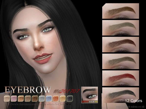 The Sims Resource: Eyebrows F 201707 by S Club