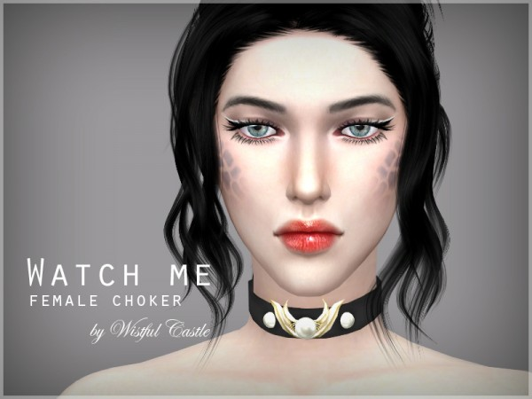 The Sims Resource: Watch me choker by WistfulCastle