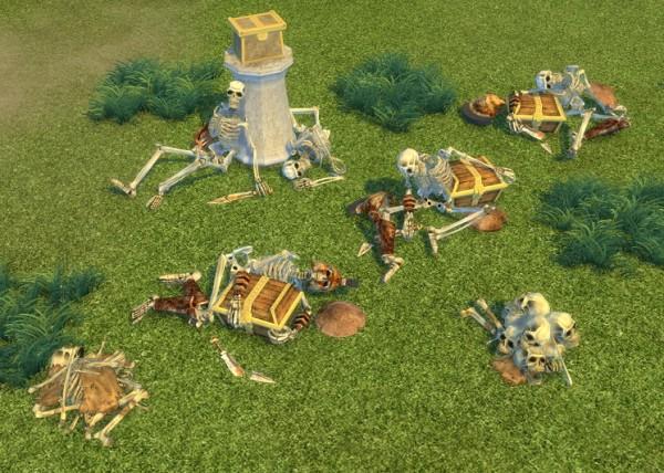 simsworkshop titan quest skeleton chests by biguglyhag. Black Bedroom Furniture Sets. Home Design Ideas