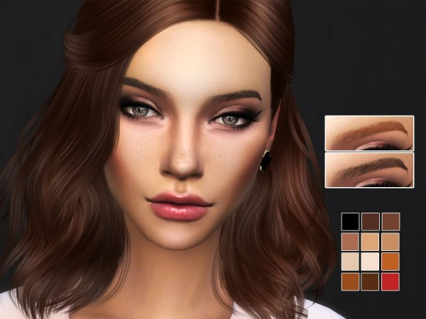 The Sims Resource: Eyebrows V2 by Kitty.Meow