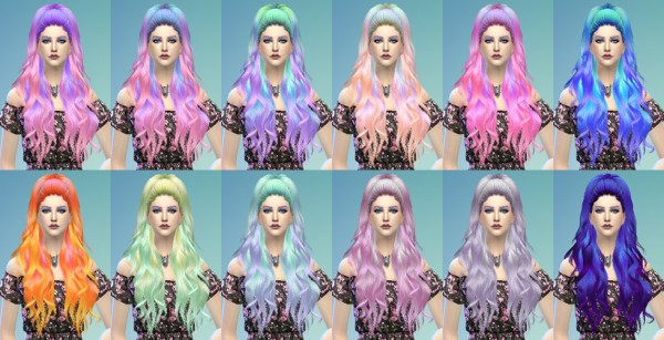 The Path Of Nevermore: Anto`s  Rainbow in The Dark hair recolored