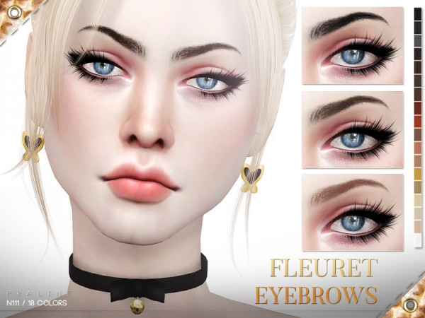 The Sims Resource: Fleuret Eyebrows N111 by Pralinesims