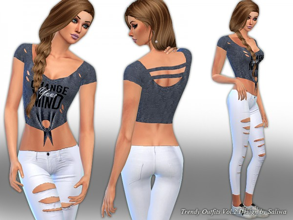 The Sims Resource: Trendy Outfits Vol 2 by Saliwa