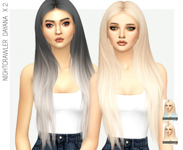 Miss Paraply: Nightcrawlers Dayana hair recolor