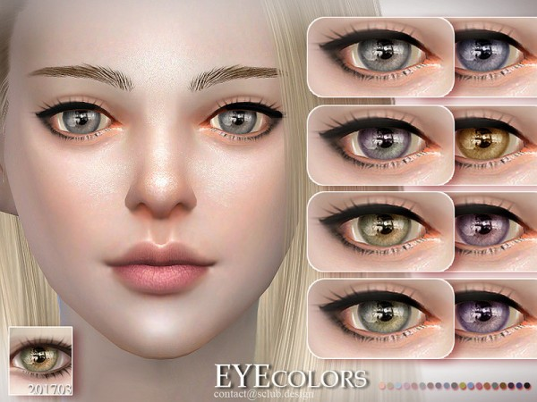 The Sims Resource: Eyecolor 201703 by S Club