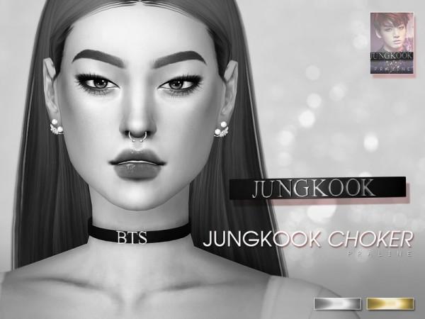 The Sims Resource: BTS Choker Set by Pralinesims