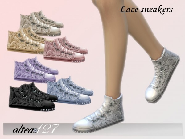 The Sims Resource: Lace sneakers by altea127