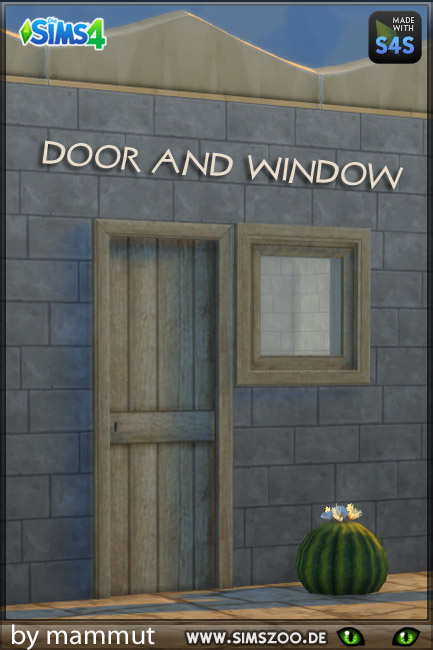 Blackys Sims 4 Zoo: Rough wooden doors and windows by  mammut