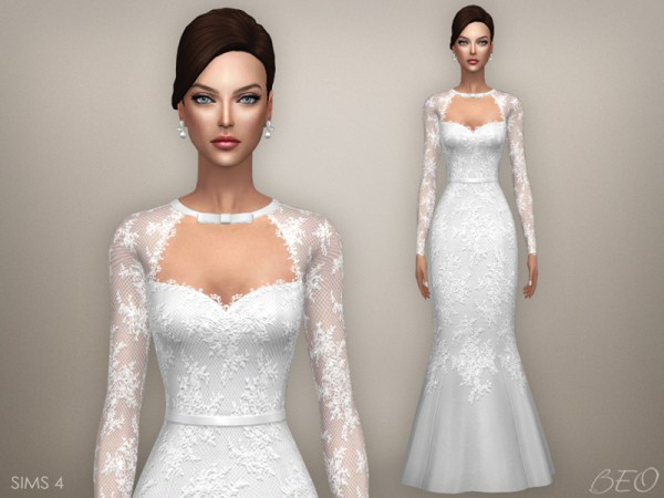 Sims 4 Wedding Veil.Beo Creations Archives Sims 4 Downloads