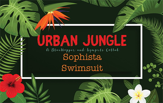 Simsworkshop: Urban Jungle Sophista Swimsuit Recolored by Sympxls