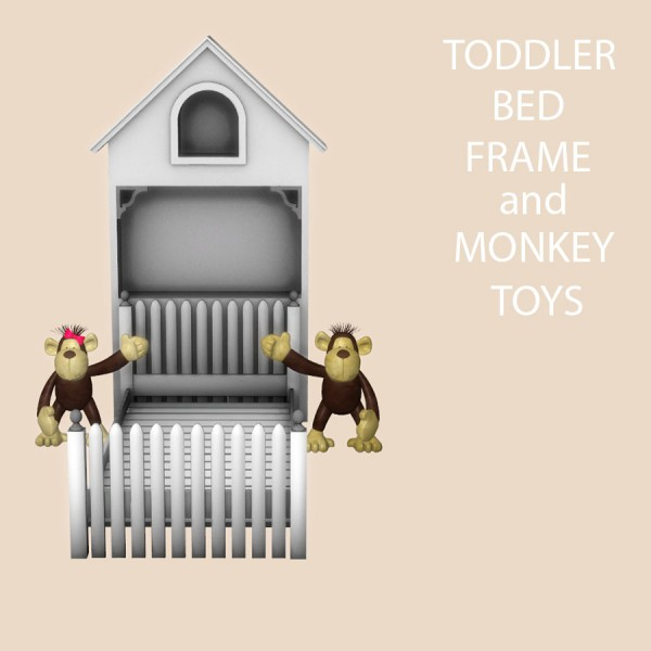 Leo 4 Sims Toddler Bed Frame And Monkey Toys O Sims 4