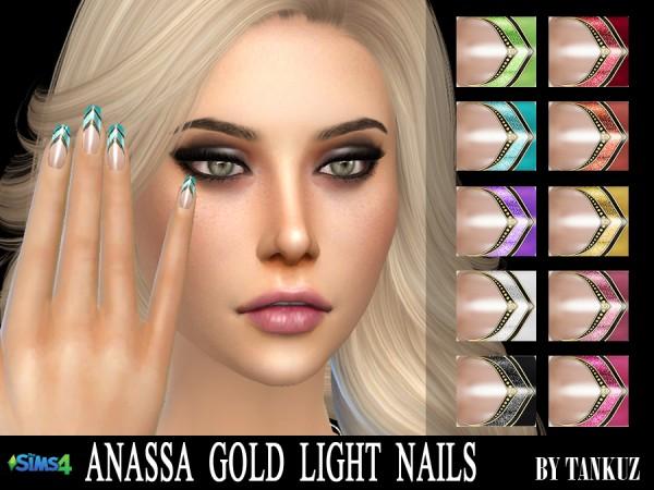 Tankuz: Anassa Gold Light Nails