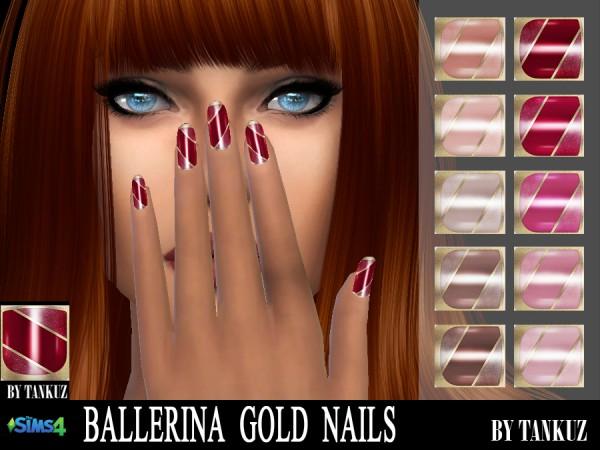 Tankuz: Ballerina Gold Nails
