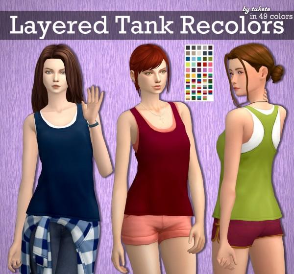 Tukete: Parenthood Layered Tank Recolors