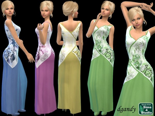The Sims Resource: Scarf Dress by dgandy