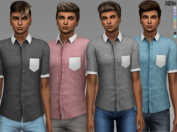 The Sims Resource: Jason Shirts by Margeh 75
