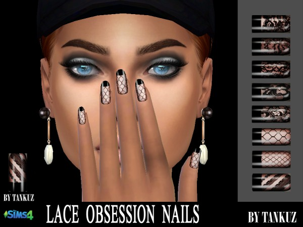 Tankuz: Lace Obsession Nails