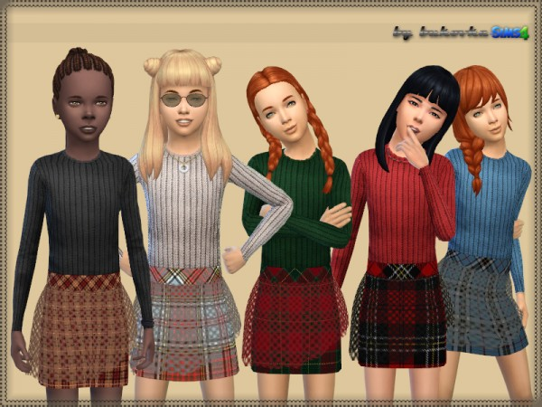 The Sims Resource: Dress Transparent Skirt by bukovka