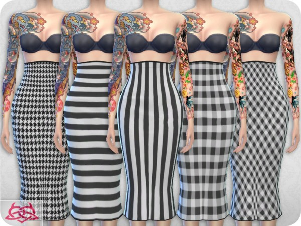 The Sims Resource: Set Blouse and Skirt recolor 1 by Colores Urbanos