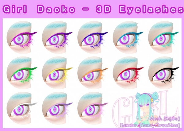 Decay Clown Sims: Girl Daoko 3D Eyelashes