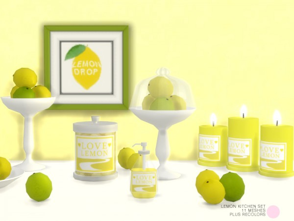 The Sims Resource: Lemon Kitchen Set by DOT