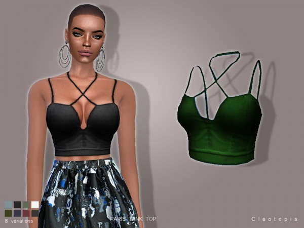 The Sims Resource: Set 82  PARIS Bralette top by Cleotopia