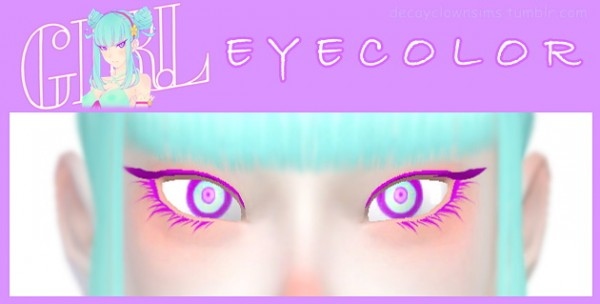 Decay Clown Sims: Girl Daoko Eyes