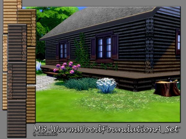 The Sims Resource: Warm Wood Foundation A Set by matomibotaki
