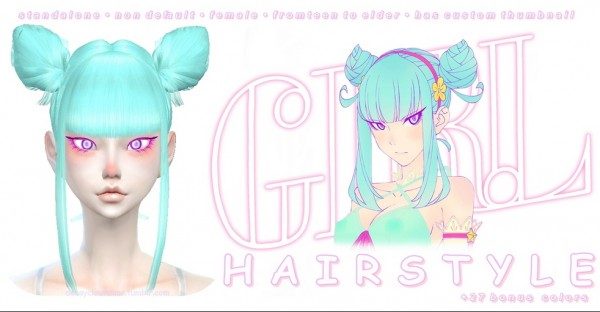 Decay Clown Sims: Girl Daoko Hair