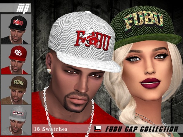 The Sims Resource: Fubu Cap Collection by MartyP