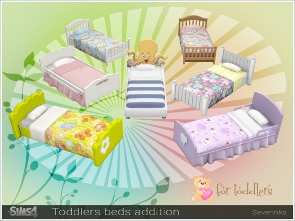 The Sims Resource: Toddlers beds addition pack by Severinka