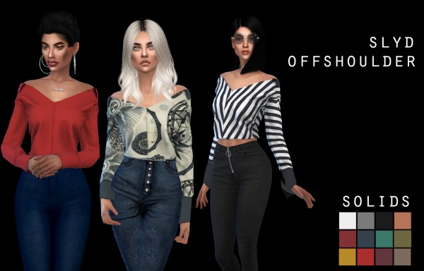 Leo 4 Sims: SLYD Offshoulder recolor