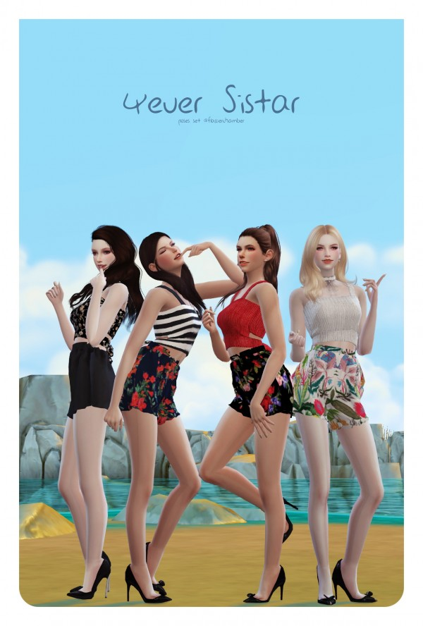 Flower Chamber: 4ever Sistar Poses Set