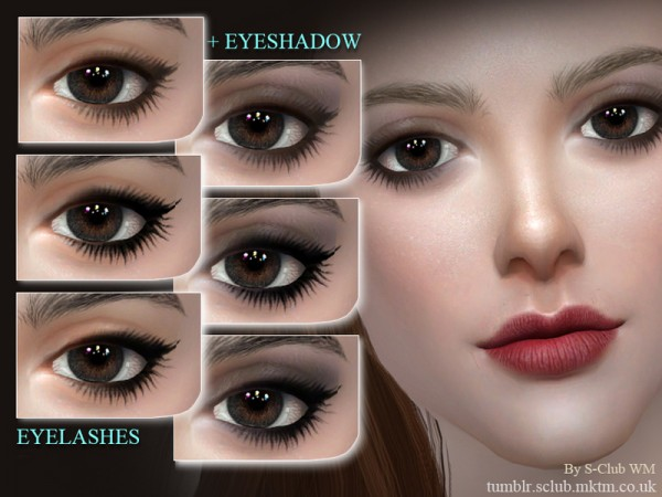 The Sims Resource: Eyelashes 201709 by S Club