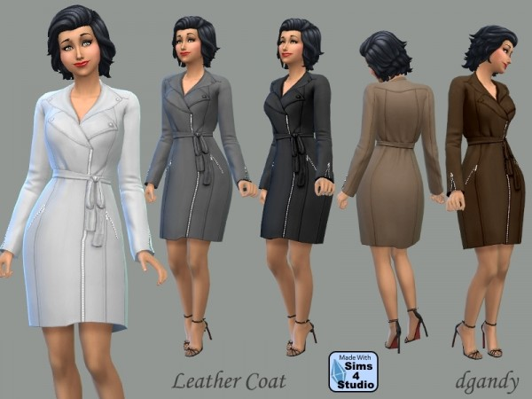 The Sims Resource: Leather Coat by dgandy