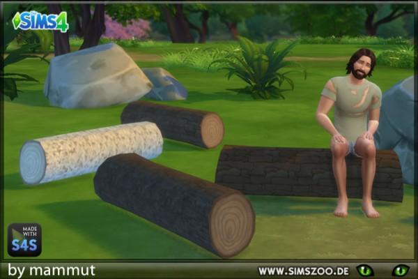 Blackys Sims 4 Zoo: Tree trunk bank by mammut