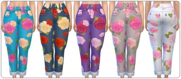 Annett`s Sims 4 Welt: Flower Jeans