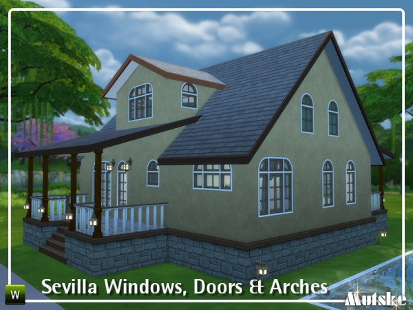 The Sims Resource: Sevilla Windows, Doors and Arches by mutske