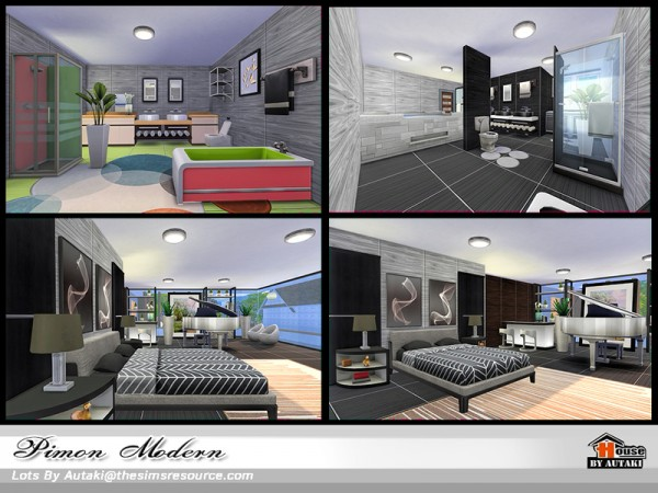 The Sims Resource: Pimon Modern house by Autaki