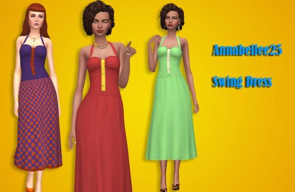 Simsworkshop: Swing Dress by Annabellee25