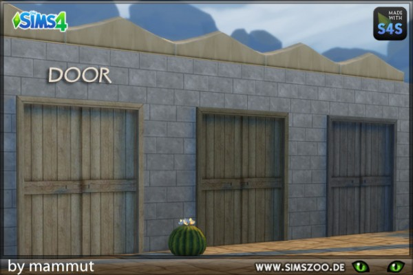 Blackys Sims 4 Zoo: Rough wooden door 2 by mammut
