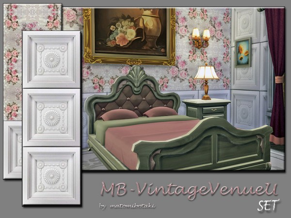 The Sims Resource: Vintage Venue U Set by matomibotaki