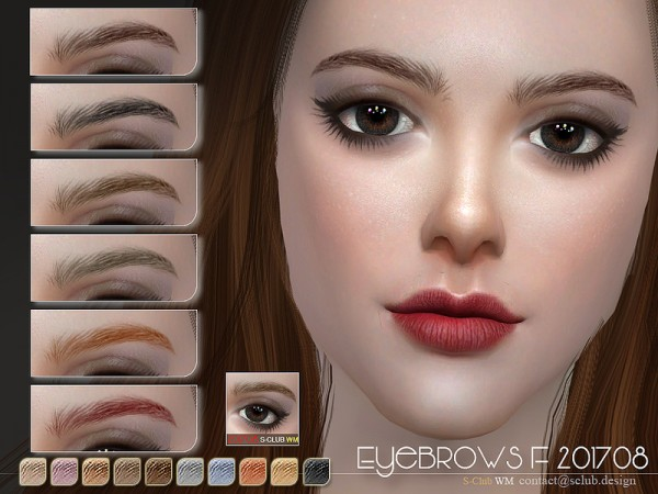 The Sims Resource: Eyebrows F 201708 by S Club