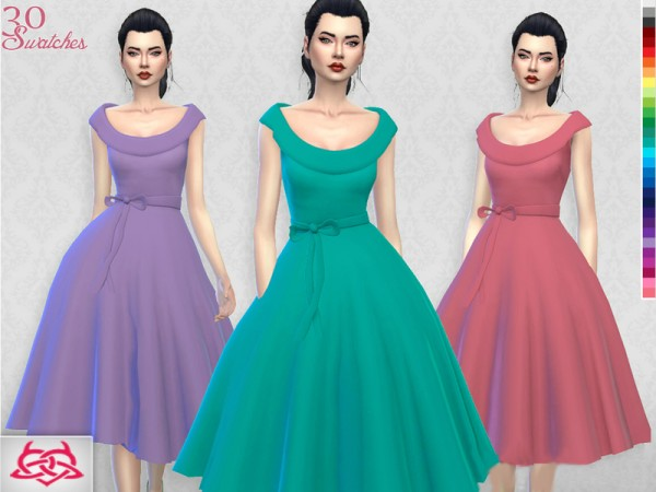 The Sims Resource: Romi dress recolor 1 by Colores Urbanos