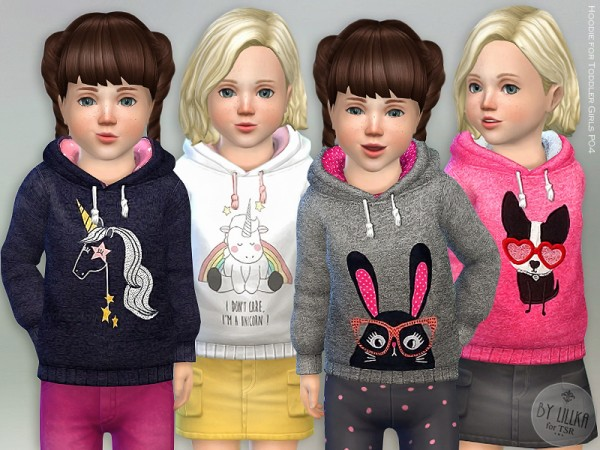 The Sims Resource: Hoodie for Toddler Girls P04 by lillka