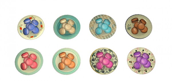 Sims 4 Designs: Exnem Food Macarons